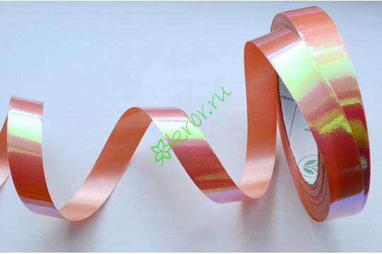 Лента полипропилен металлик оранжевый перелив, 3 м