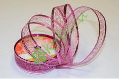 Лента-паутинка армированная розовая 25 мм, 1 м