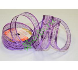 Лента-паутинка армированная сиреневая 25 мм, 1 м