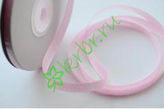 Лента атласная горох светло-розовая 6 мм, метр