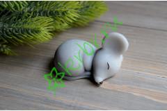 Сувенирное мыло Мышонок спящий светло-серый, шт
