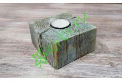 Подсвечник деревянный 10х10х6 см, голубой
