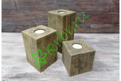 Подсвечник деревянный Моне, орех