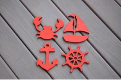 Набор Морской с корабликом, красный