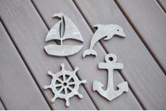 Набор Морской с корабликом, серый