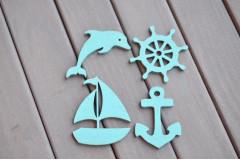 Набор Морской с корабликом, голубой