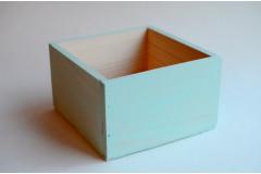 Кашпо ящик деревянный 15х15х9,5 см, мятный