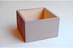Кашпо ящик деревянный 15х15х9,5 см, пыльная роза