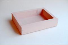 Ящик декоративный универсальный 15х20х4,5 см, нежно-розовый