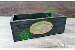 Ящик деревянный Сен-Мартен индиго, шт