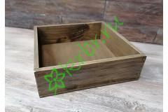 Ящик бокс состаренный Орех, 25х25х7,5 см