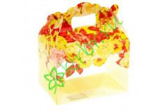 Коробочка сборная Цветы, желтая