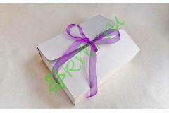 Подарочная коробка фигурная средняя БЕЛАЯ 20х15х6,5 см, шт
