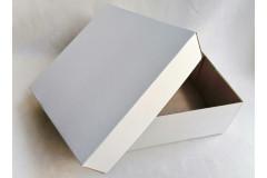 Подарочная коробка кр/дно БЕЛАЯ 25х25х10 см, от 50 шт