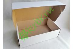 Подарочная коробка крафт  БЕЛАЯ 33х21х10 см, шт