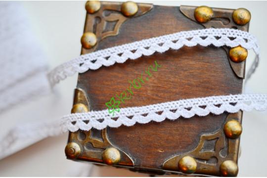 Кружево вязаное Винтаж белое, м
