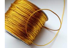 Шнур люрекс 1,5 мм золото, метр