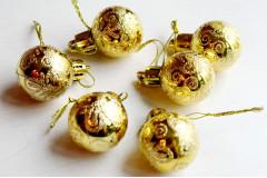 Набор шариков Ажур золото, 6 шт