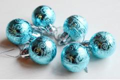 Набор шариков Ажур голубой, 6 шт