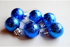 Набор шариков Ажур синий, 6 шт