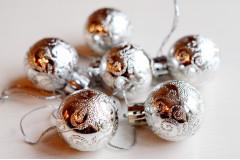 Набор шариков Ажур серебро, 6 шт