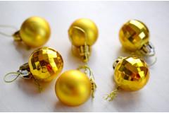 Набор шариков Новогодний золото