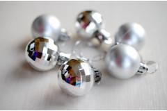 Набор шариков Новогодний серебро