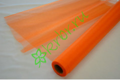 Органза-снег оранжевая, м