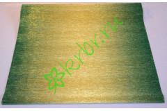 Гофрированная бумага металл с переходом  801/2, золото/зеленый