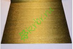 Гофрированная бумага металл с переходом  801/3, золото/черный