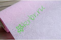 Фетр ламинированный 3D Цветущий сад нежно-розовый, м