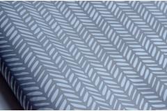 Крафт бумага белая с принтом Серый орнамент, метр