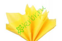 Бумага тишью Лимонный, лист 50х66 см