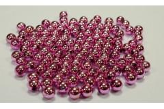 Бусины малиновый металлик 10 мм