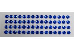 Стразы самоклеющиеся синие 4 мм