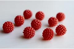 Бусины декоративные Малина красные