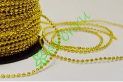 Бусы золото 2 мм