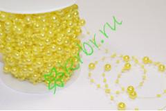Бусины Шарики 8 мм на нити, желтый