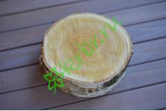 Спил дерева в ассортименте 12-15 см, 1 шт.