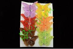 Бабочки на клипсе, 1 шт