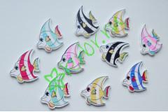 Рыбка-пуговица декоративная, 3 шт