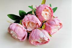 Букет пионов София розово-персиковый, шт