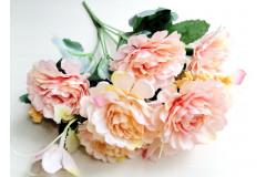 Роза-пион Валерия в букете персиковая, шт