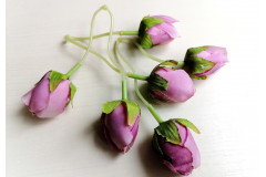 Бутончик розы на ножке двойной сиреневый