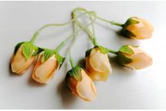 Бутончик розы на ножке двойной персиковый