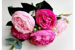 Пионы Бернар букет розово-малиновый, шт