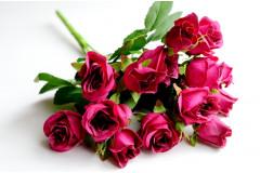 Букет кустовой розы Олимпия малиновый, шт