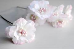Цветок на ножке Зефир бело-розовый, шт