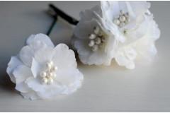 Цветок на ножке Зефир белый, шт