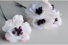 Цветок на ножке Анемон белый, шт